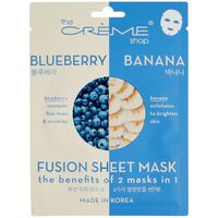 The Creme Shop 2 in 1 Blueberry & Banana Fusion Face Sheet Mask