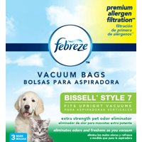 Febreze BISSELL Style 7 Vacuum Bag with Pet Odor Eliminator Scent, 3-Pack, 17F9P