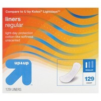 Panty Liners - Regular Absorbency - 129ct - Up&Up™