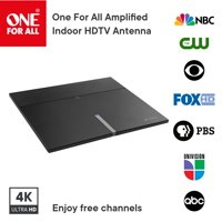One For All 16472 Amplified Indoor Smart HDTV Antenna - Supports 4K 1080p