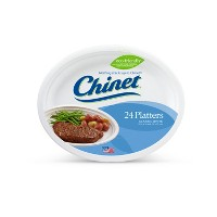 "Chinet 12"" White Platters - 24ct"