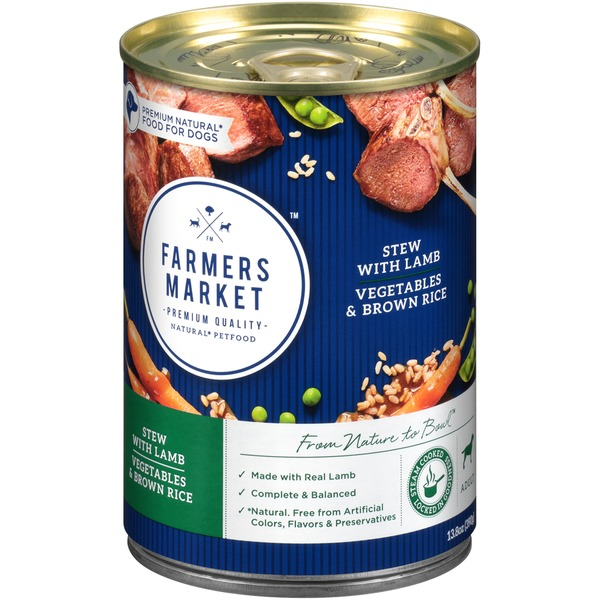 Farmers Market Foods Stew with Lamb, Vegetables & Brown Rice Adult Dog Food