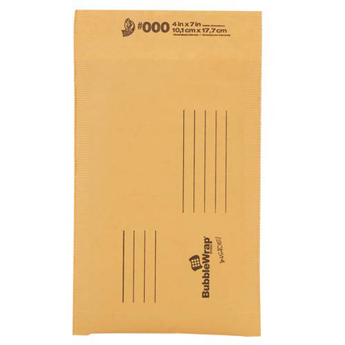 Duck Kraft Bubble Mailers, #000 (4 in. x 7 in.), Self-Sealing, 1-Count