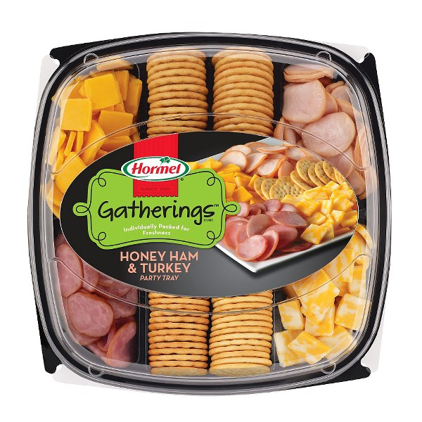Hormel Turkey, Ham And Cheese Party Tray Meat and Cheese Platters - 28oz