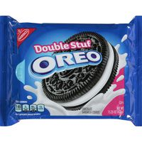 Oreo Double Stuf Chocolate Sandwich Cookies, Original Flavor, 1 Resealable Pack