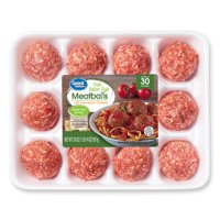 Great Value Italian Style with Parmesan Cheese Pork Meatballs, 12 Count, 1.88 lb