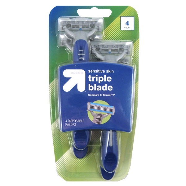Men's 3 Blade Disposable Razors - 4ct - Up&Up™