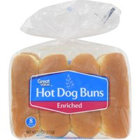 Great Value Hot Dog Buns, 11 oz, 8 count