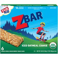 CLIF Kid Organic Iced Oatmeal Cookie Baked Whole Grain Energy Snack Bars