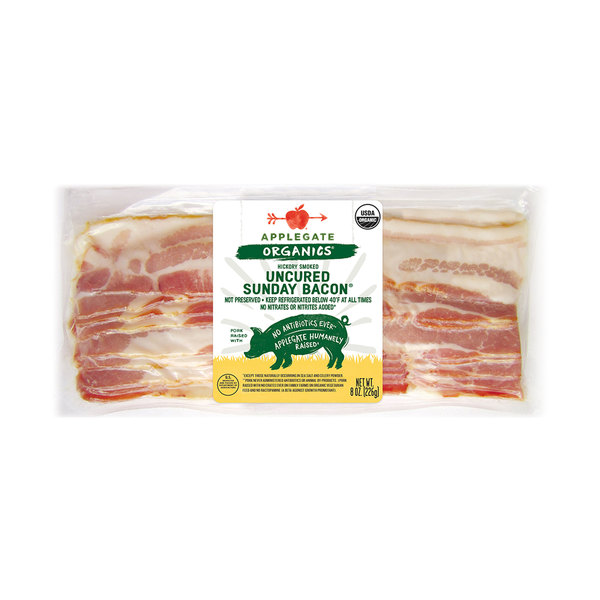Organic Uncured Sunday Bacon, 8 oz