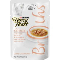 Fancy Feast Broth Wet Cat Food Complement, Broths With Wild Salmon & Vegetables