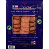 Foppen Norwegian Smoked Salmon Slices, 12 oz