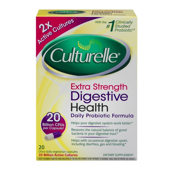Culturelle Digestive Health Probiotic Capsules Extra Strength - 20 CT