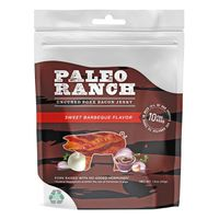 Paleo Ranch Sweet Barbeque Uncured Pork Bacon Jerky