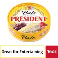 President Brie Soft-Ripened Cheese, 16oz.