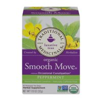 Traditional Medicinals, Organic Smooth Move Tea Bags, Peppermint, 16 Ct