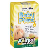 Nature's Plus Baby Plex Sugar-free Multivitamin Liquid Drops Supplement For Infants And Toddlers