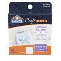 Elmer's Repositionable Adhesive Squares, 250 Count