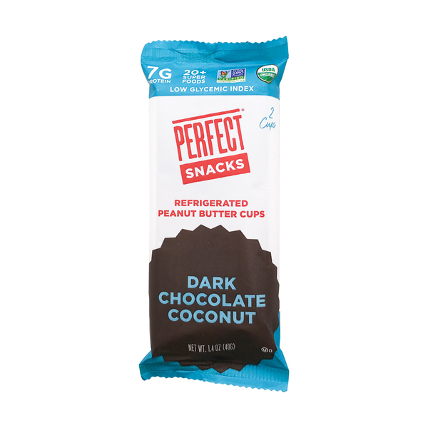 Perfect snacks Dark Chocolate Coconut Peanut Butter Cups, 1.4 oz