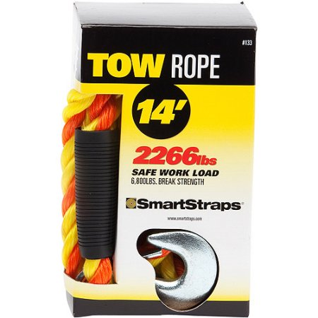 SmartStraps 14 ft. Tow Rope with Snap Hooks, 6800 lb. Break Strength