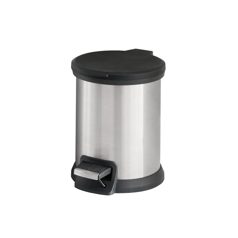 Mainstays 1.3 Gal / 5L Round Step Pedal Trash Can, Stainless Steel with Lid