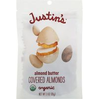 Justin's Justins Almonds, Almond Butter Covered, Organic, Pouch