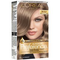 L'Oreal Paris Superior Preference Fade-Defying Color + Shine System 7A Dark Ash Blonde/Cooler