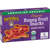 Annie's Organic Bunny Fruit Snacks, Berry Patch, 5 Ct