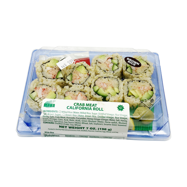 Crab Meat California Roll, 7 oz