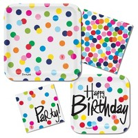 French Bull Birthday Dots Party Supplies Collection