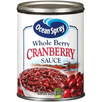 Ocean Spray Sauce Whole Berry Cranberry Sauce