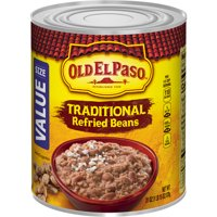 Old El Paso Traditional Refried Beans, Value Size, 31 oz Can