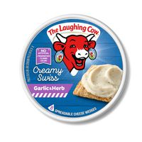 The Laughing Cow Creamy Swiss Garlic & Herb Cheese Spread, 6 oz