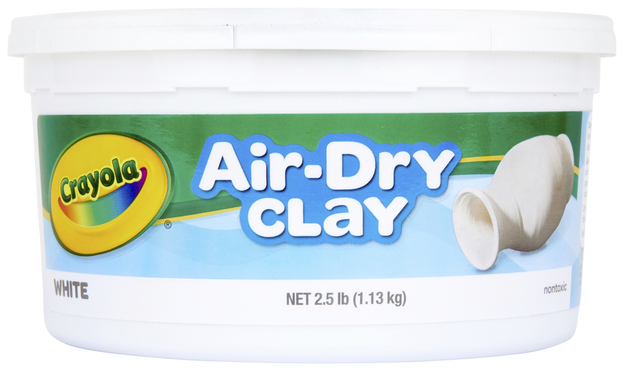 Crayola Air-Dry Clay, White, 2.5 Lb Resealable Bucket