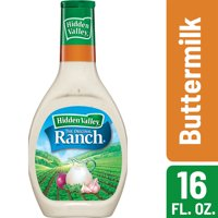 Hidden Valley Buttermilk Ranch Salad Dressing & Topping, Gluten Free - 16 Ounce Bottle