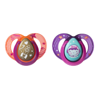 Tommee Tippee Closer to Nature Night Time Baby Pacifier, 6-18 months - 2ct (Colors May Vary)