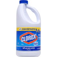 Clorox Splash-Less Bleach, Regular, 55 Ounces