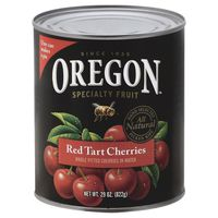 Oregon Cherries, Red Tart, Whole Pitted, Can