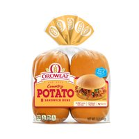 Oroweat Country Potato Sandwich Buns, Burger Size, 8 Buns, 16 oz