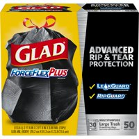 Glad ForceFlexPlus Drawstring Large Trash Bags - 30 gal - 50 ct