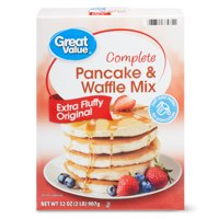 Great Value Complete Pancake & Waffle Mix, Extra Fluffy, Original, 32 oz