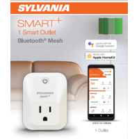 SYLVANIA SMART Outlet, Bluetooth, 15 amp max, 1 Pack