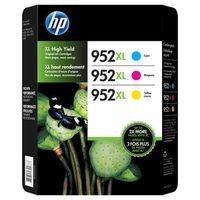HP 952XL High Yield Color Combo Ink Cartridges, 3 ct