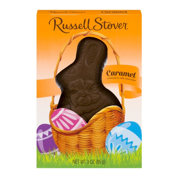 Russell Stover Caramel Bunny In Milk Chocolate