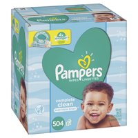 Pampers Baby Wipes, Complete Clean Scented, 7X Pop-top Packs 504 Count