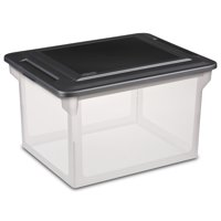 Sterilite, File Box, Black