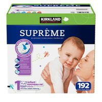 Kirkland Signature Supreme Diapers, Size 1, 192 ct