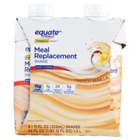 Equate Meal Replacement, French Vanilla, 11 Fl Oz, 4 Ct