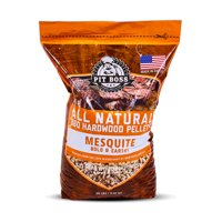 (2 pack) Pit Boss Texas Mesquite Hardwood BBQ Grilling and Smoking Pellets - 20 lb Resealable Bag