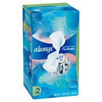 Always Infinity Size 2 Super Sanitary Pads with Wings